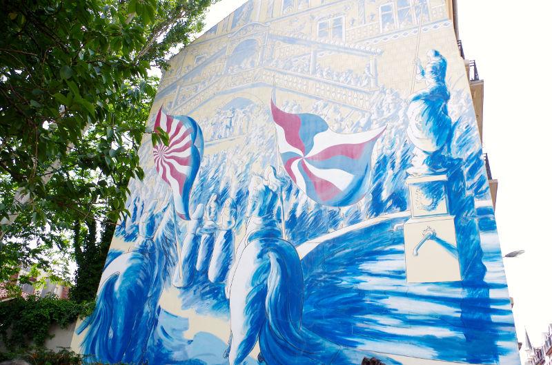 Mur peint - La réunion à la France - Mulhouse Alsace | #mulhousexperience